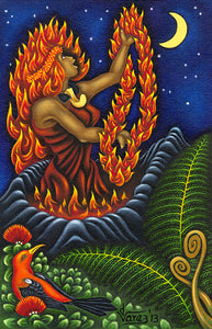 175 Pele and her Lei of Fire by Hawaii Artist Dietrich Varez