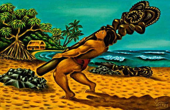 18 Maui Overturning the Kia by Hawaii Artist Dietrich Varez