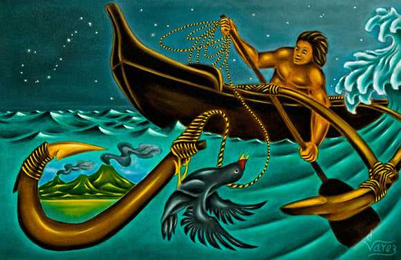 20 Maui the Fisherman by Hawaii Artist Dietrich Varez