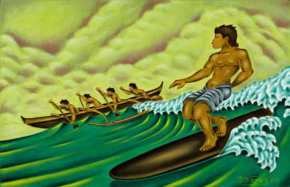 23 Hawaiian Surfer by Hawaii Artist Dietrich Varez