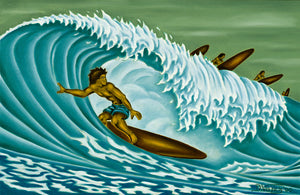 24 Tube Rider by Hawaii Artist Dietrich Varez