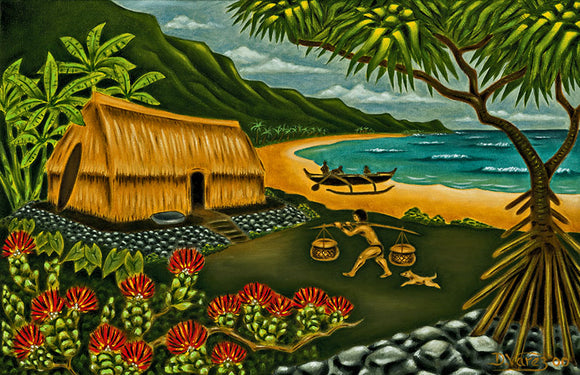25 Little Grass Shack by Hawaii Artist Dietrich Varez