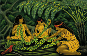28 Maile Sisters by Hawaii Artist Dietrich Varez