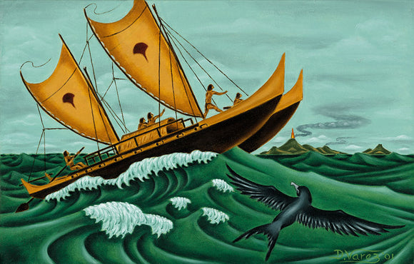 29 Voyaging Canoe by Hawaii Artist Dietrich Varez