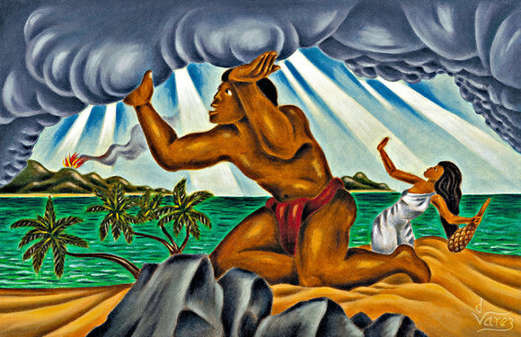2 Maui Lifting the Sky by Hawaii Artist Dietrich Varez