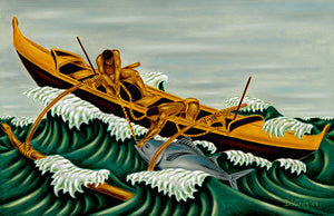 30 Fishing Canoe by Hawaii Artist Dietrich Varez