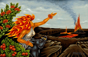37 Pele and Kamapua'a by Hawaii Artist Dietrich Varez