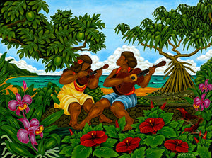 38 The Garden Wall by Hawaii Artist Dietrich Varez