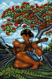 45 Guitar Player by Hawaii Artist Dietrich Varez