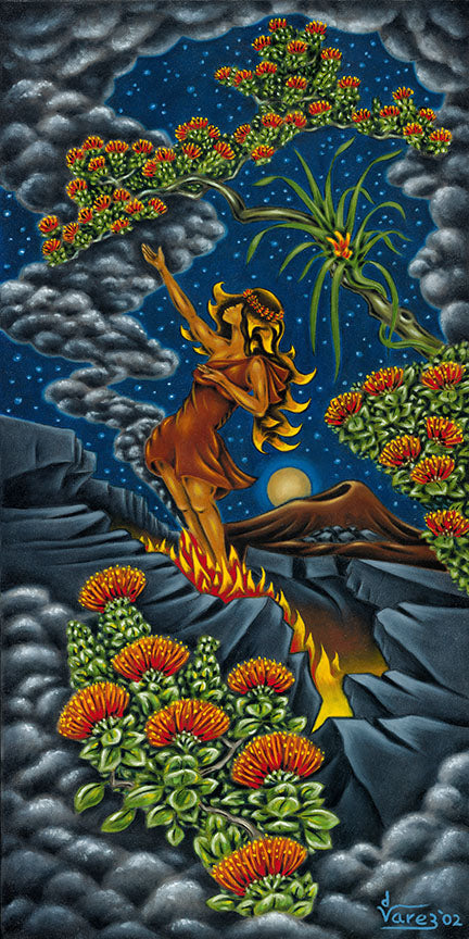 46 Pele at the Rift by Hawaii Artist Dietrich Varez