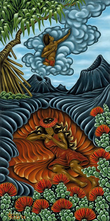 49 Pele Dreaming of Lohi'au by Hawaii Artist Dietrich Varez