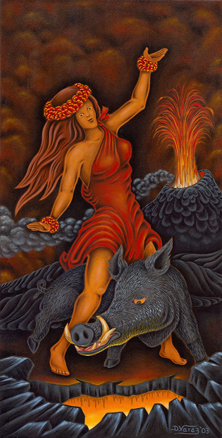 60 Pele and Kamapua'a by Hawaii Artist Dietrich Varez