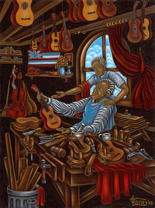 62 The Ukulele Shop by Hawaii Artist Dietrich Varez