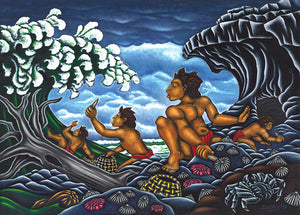 68 Picking 'Opihi by Hawaii Artist Dietrich Varez