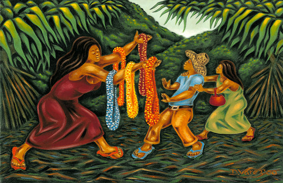 6 The Lei Seller by Hawaii Artist Dietrich Varez