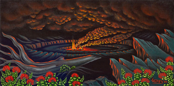 73 Volcano Night by Hawaii Artist Dietrich Varez