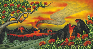 74 Volcano at Dusk by Hawaii Artist Dietrich Varez