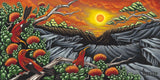 76 Volcano Sunset by Hawaii Artist Dietrich Varez