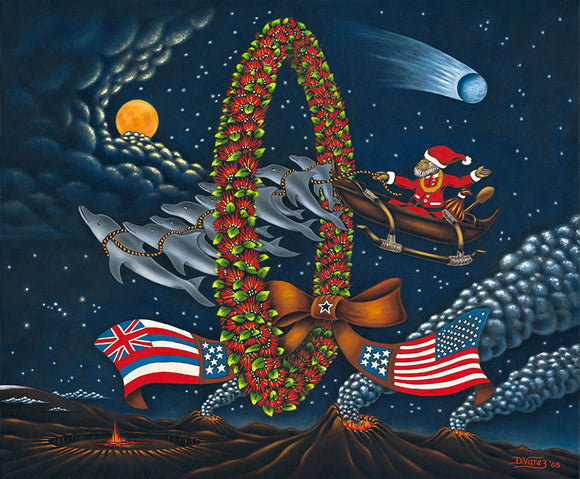 79 Volcano Christmas by Hawaii Artist Dietrich Varez