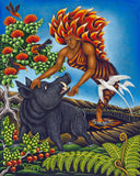 86 Pele and Kamapua'a by Hawaii Artist Dietrich Varez