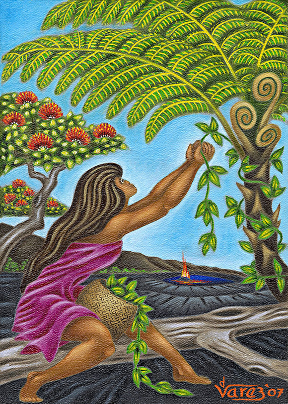 98 Maile Girl by Hawaii Artist Dietrich Varez