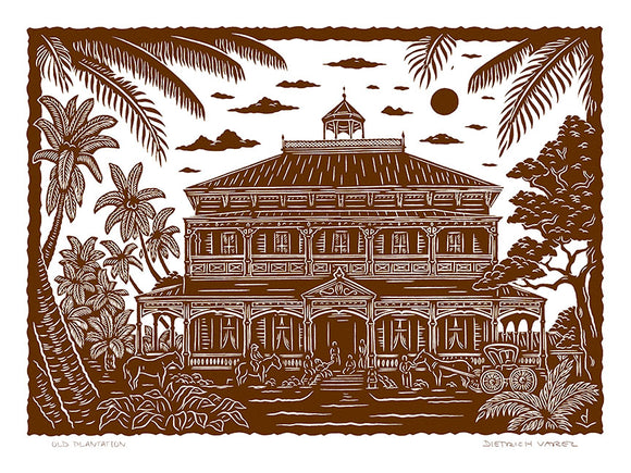 L101 Old Plantation by Hawaii Artist Dietrich Varez