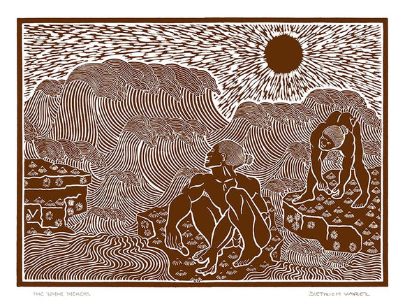 L29 The Opihi Pickers by Hawaii Artist Dietrich Varez