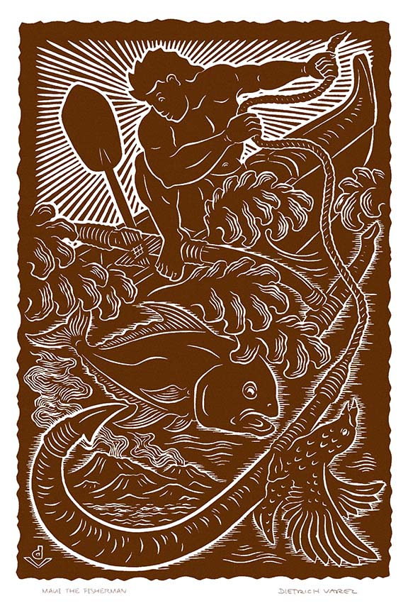 M39 Maui the Fisherman by Hawaii Artist Dietrich Varez