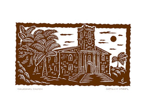 P19 Kawaiahao Church by Hawaii Artist Dietrich Varez