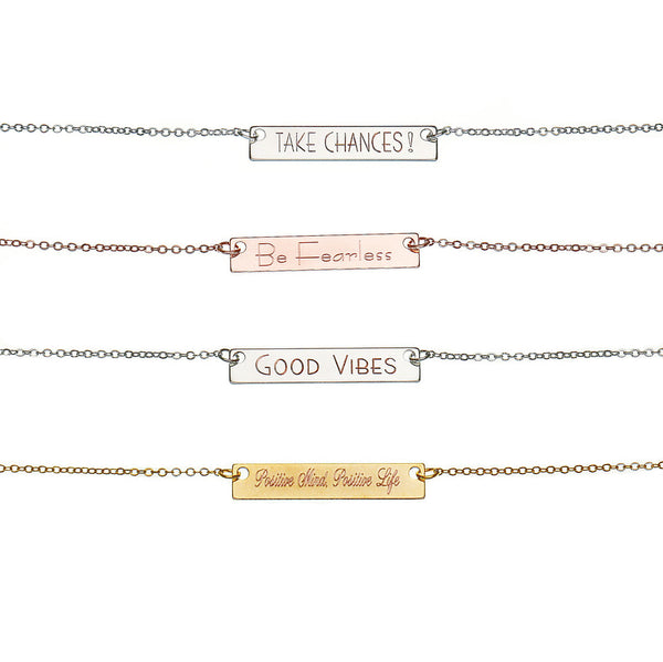 Custom Inspiration Bar Necklace