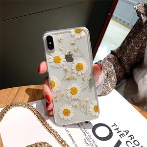 Dried Daisy Flower Phone Case