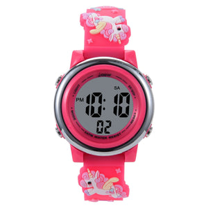 Colorful LED Waterproof Digital Sports Watch For Children