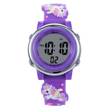 Load image into Gallery viewer, Colorful LED Waterproof Digital Sports Watch For Children