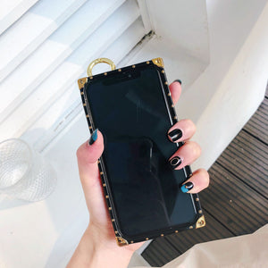 Luxury Stripe Phone Case With Wristband