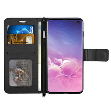 Load image into Gallery viewer, Leather-Style Samsung Galaxy S10 Wallet Stand Case
