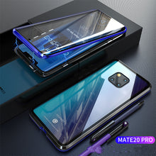 Load image into Gallery viewer, Magnetic Adsorption Transparent  Case Front+Back double-sided Glass Phone Case For Huawei