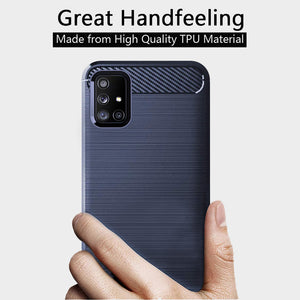 Luxury Carbon Fiber Case For Samsung A Series
