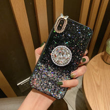 Load image into Gallery viewer, Glitter Stars Case for iPhone With Phone Holder