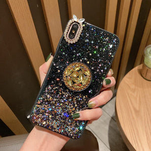 Glitter Stars Case for iPhone With Phone Holder
