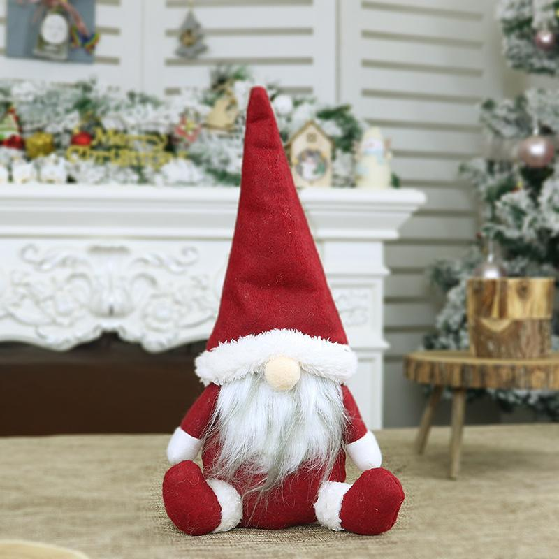 Christmas Faceless Old Man Doll Window Decoration