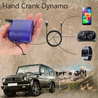 【Emergency Charger】USB Hand Crank Manual Dynamo for Cellphones