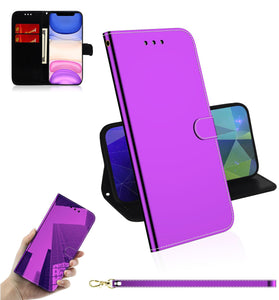 2020 New Mirror Surface Leather Wallet Case For MOTO