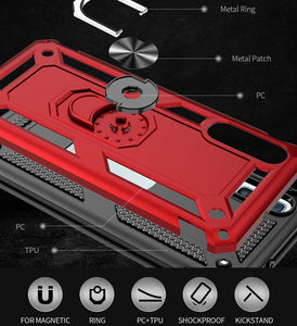 Luxury Armor Ring Bracket Phone Case For Samsung A50/A50S/A30S-Fast Delivery