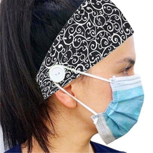 Load image into Gallery viewer, Button Headband Ear Protection for Mask Non-Slip Elastic Hair Bands(BUY 2 GET 15% OFF,BUY 3 GET 30% OFF)
