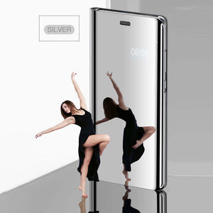 Luxury Mirror Flip Smart Case For OPPO