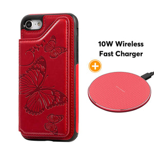 New Luxury Embossing Wallet Cover For iPhone SE2020&7/8-Fast Delivery