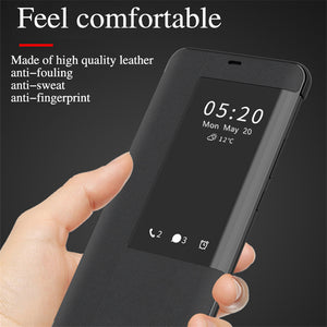 Smart View Sleep Wake UP Function Flip Case For Huawei