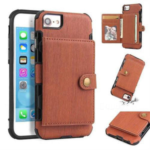 Security Copper Button Protective Case For iPhone 6/6S