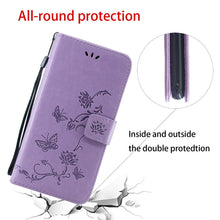 Load image into Gallery viewer, Imprint Butterfly Flower Leather Mobile Phone Case for iPhone 12Mini