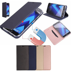 Ultra-thin Magnetic Flip Leather Case For Samsung